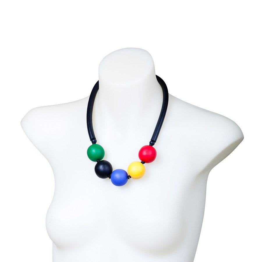 Chunky resin necklace - mondrian