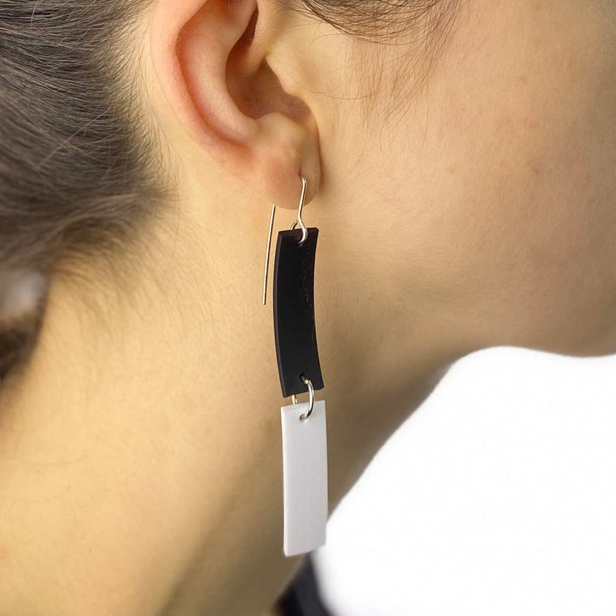 double strip earrings
