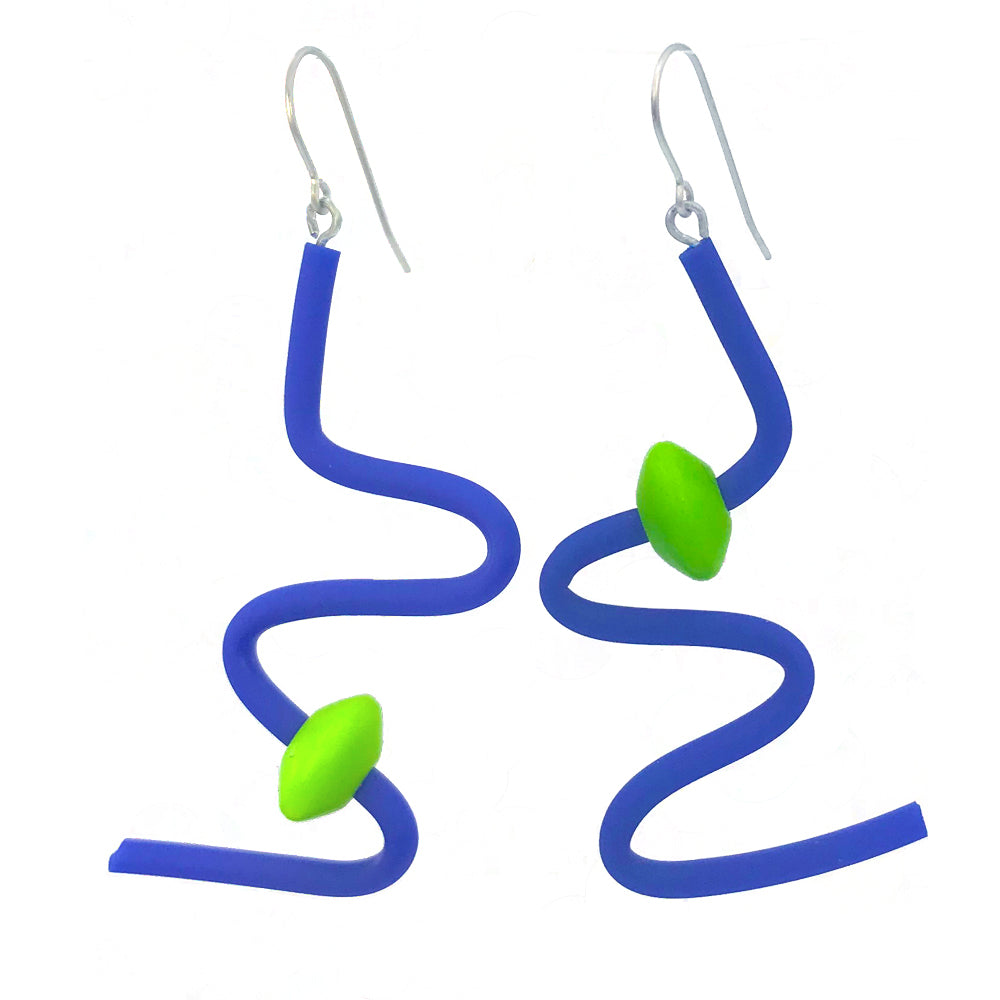 Squiggle earrings