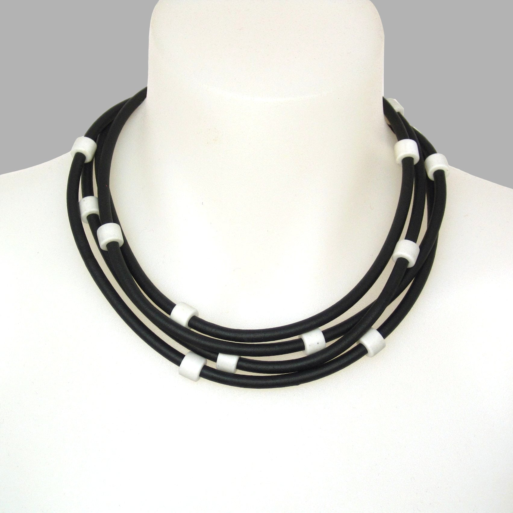 resin and rubber necklace