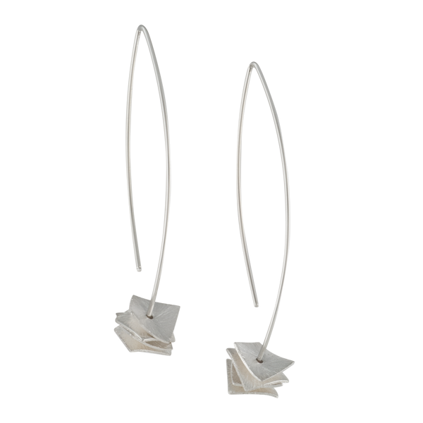 sterling silver earrings with square disks