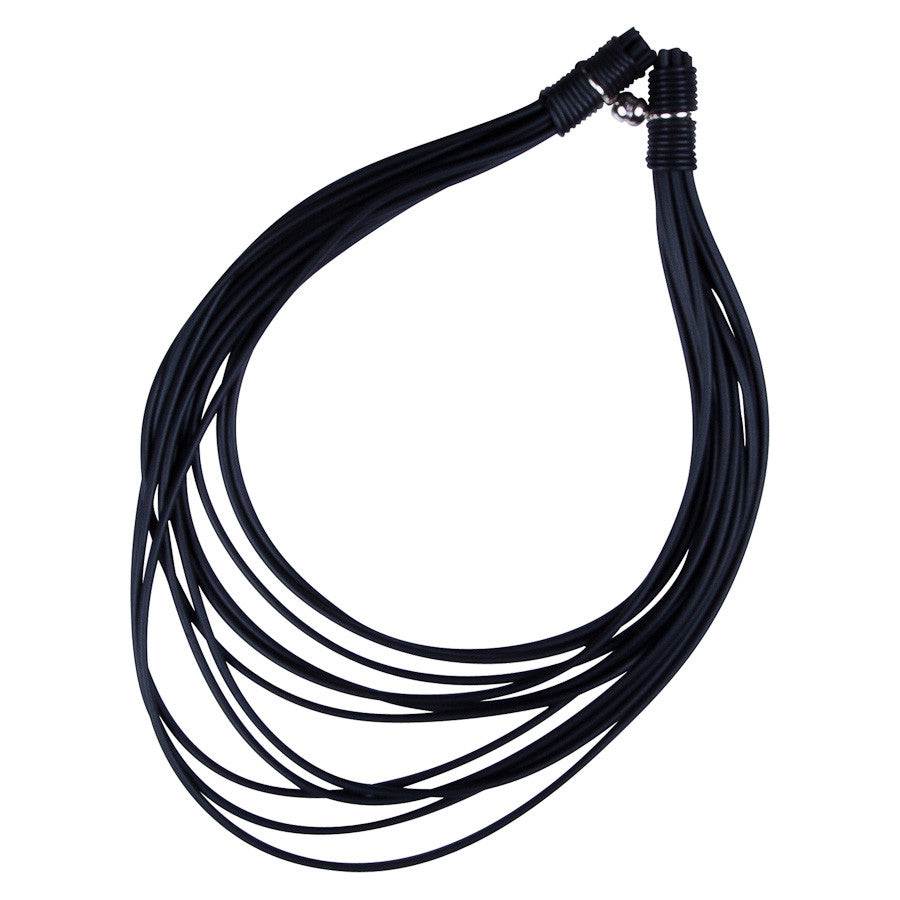 Short Multi Strand Rubber Necklace