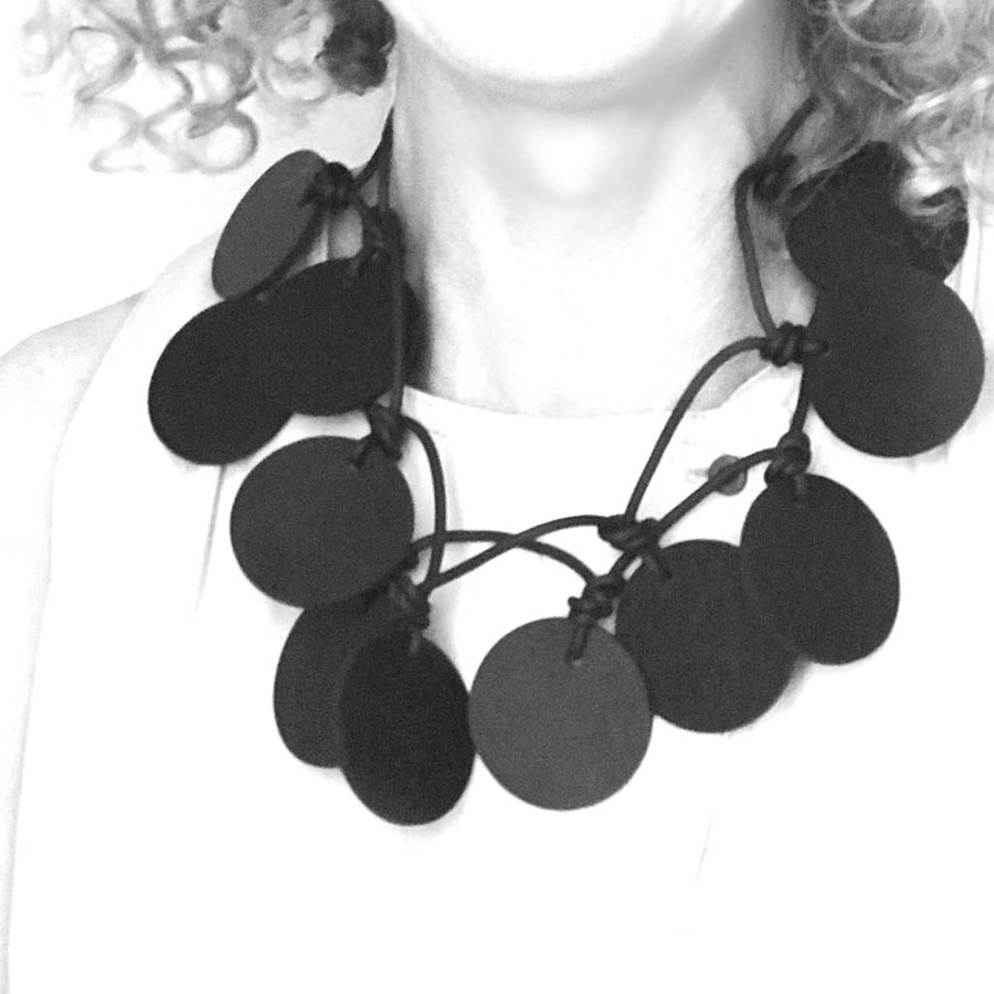 rubber disk necklace
