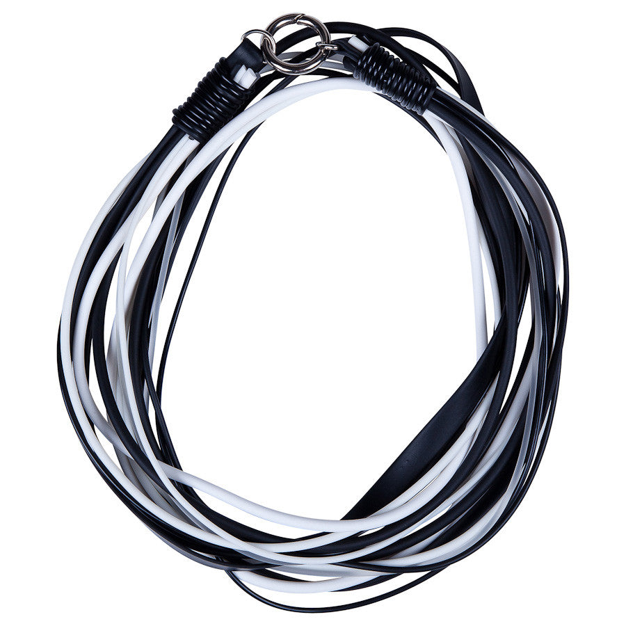 multi strand necklace black and white