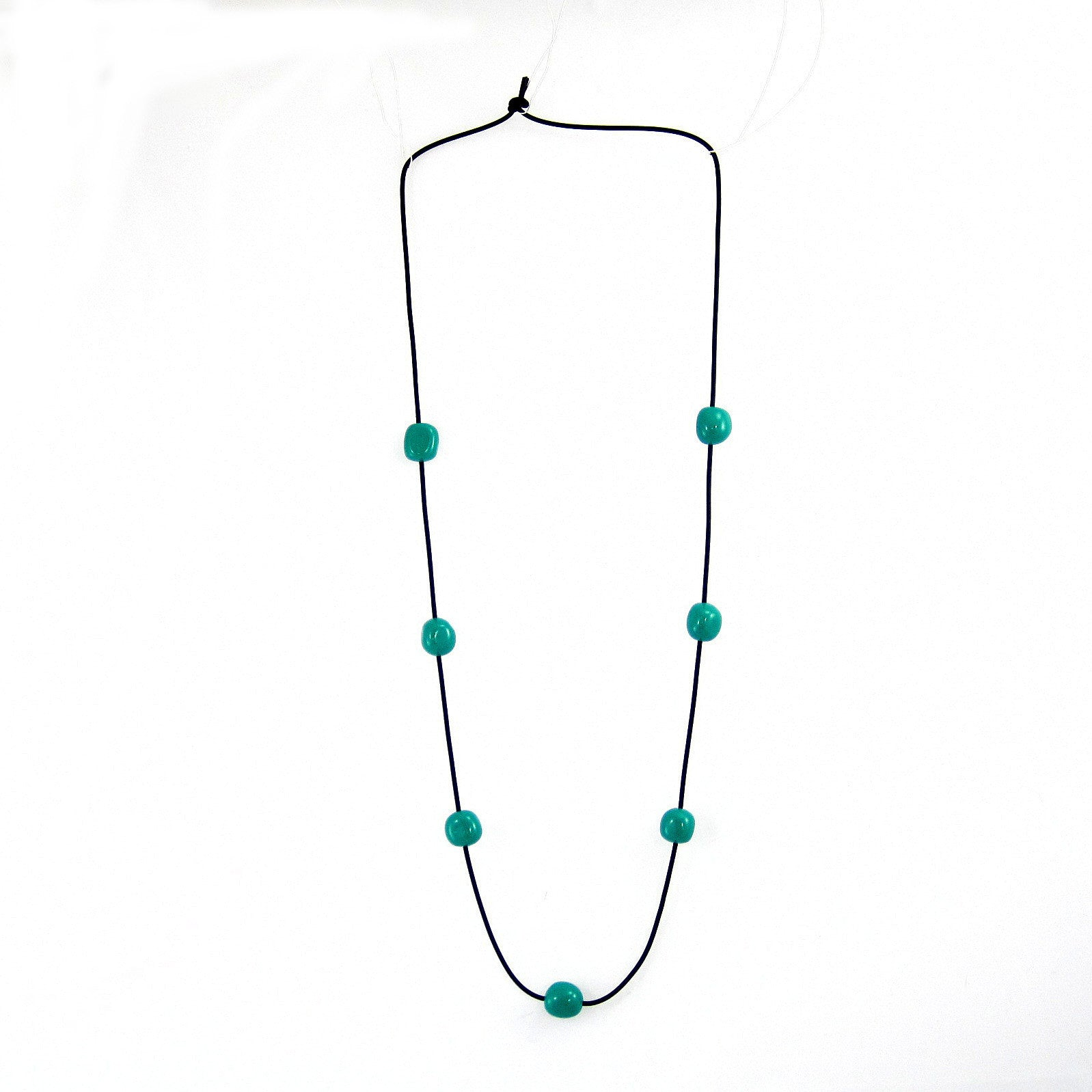 polished chunky resin bead necklace