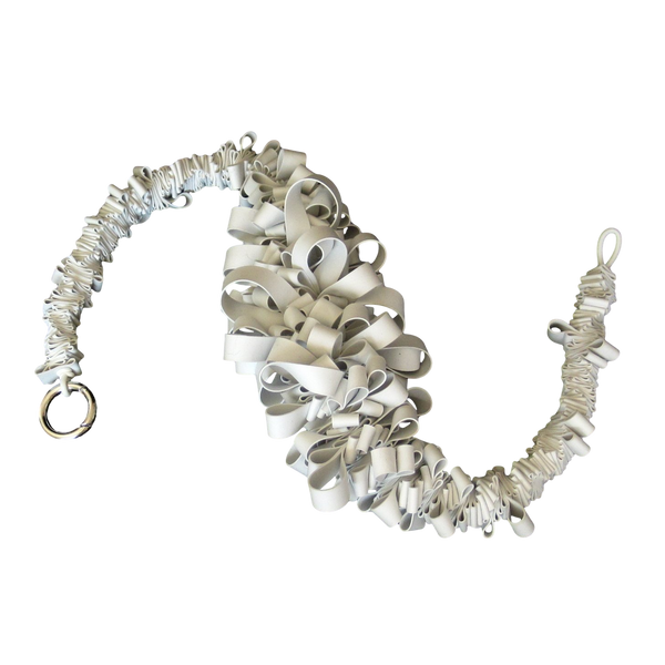 ruffle necklace in white rubber