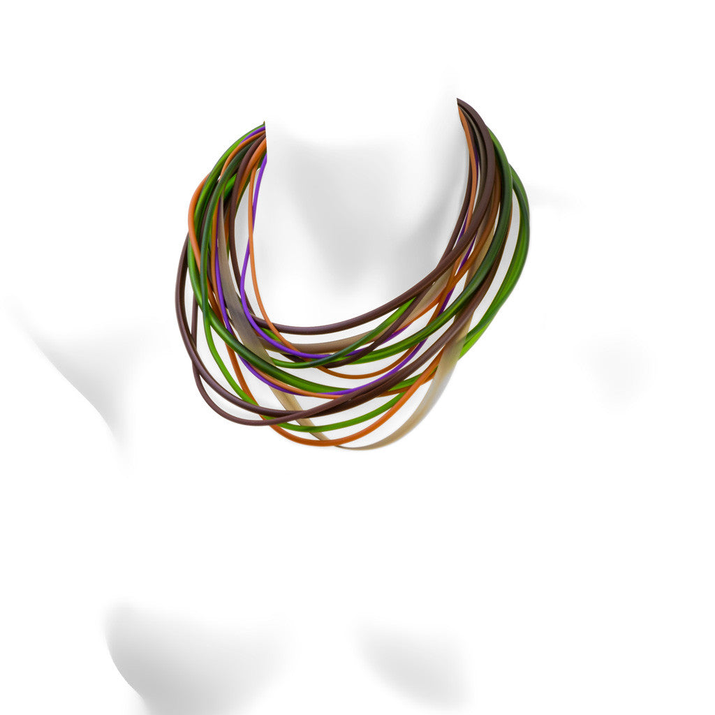 multi colour necklace -warm heather