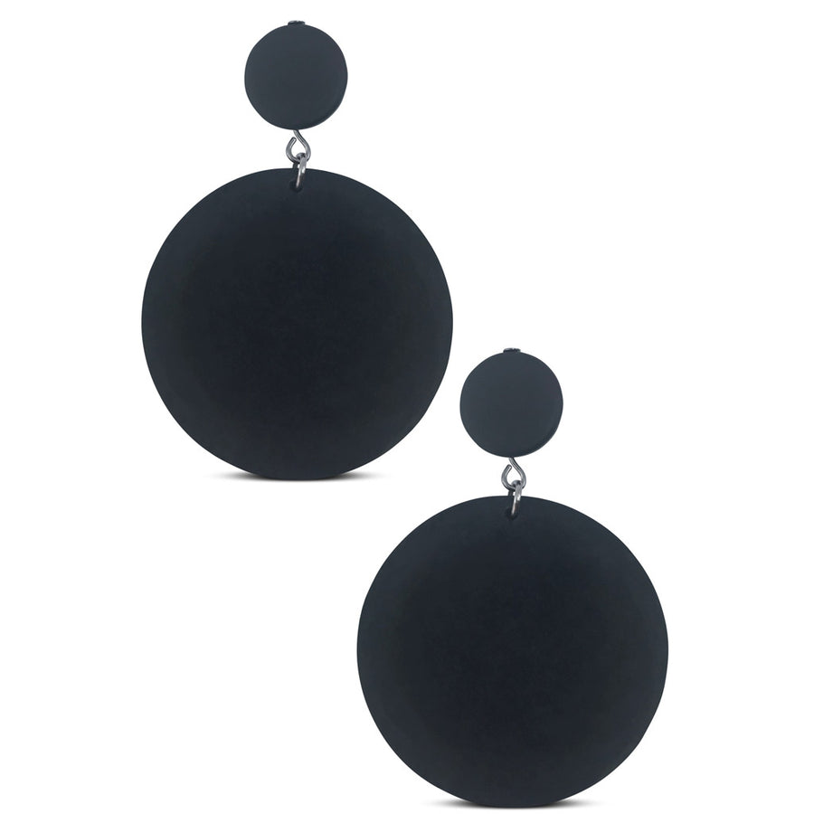 rubber disk earrings