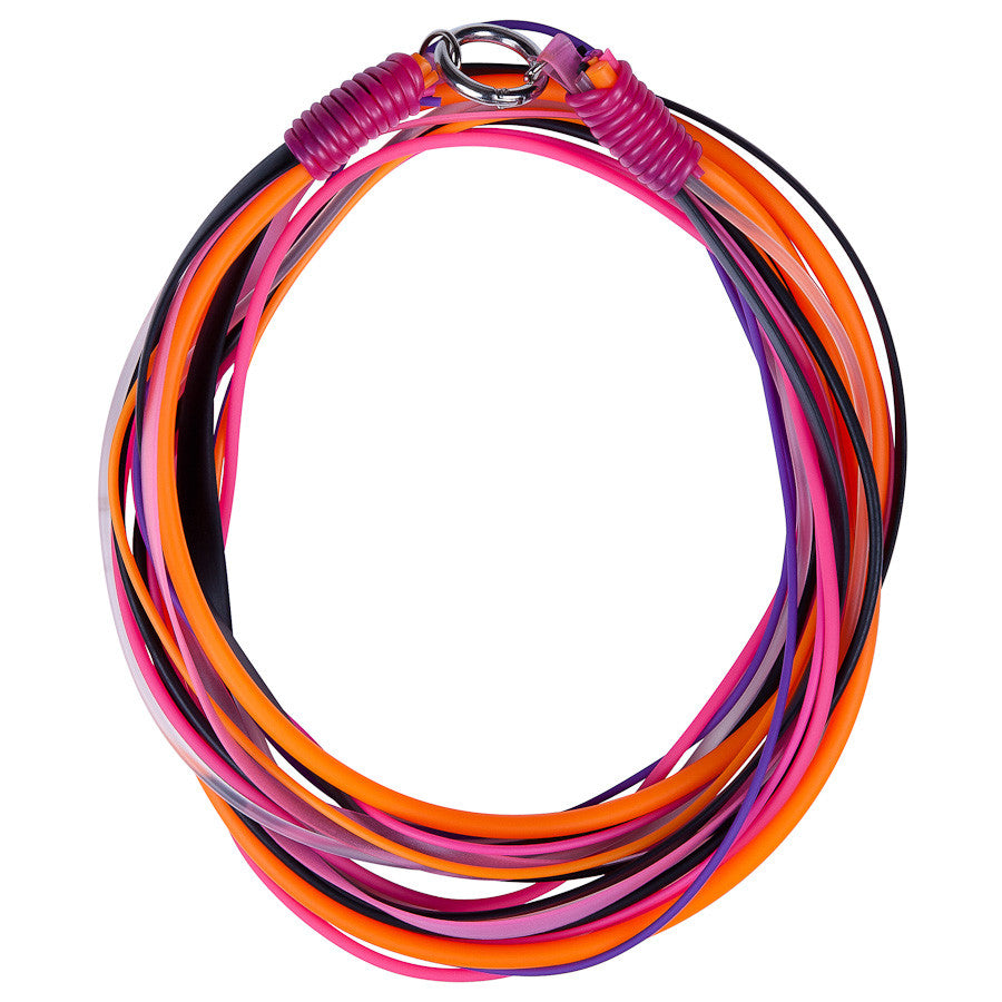 multi strand necklace hot pink and orange