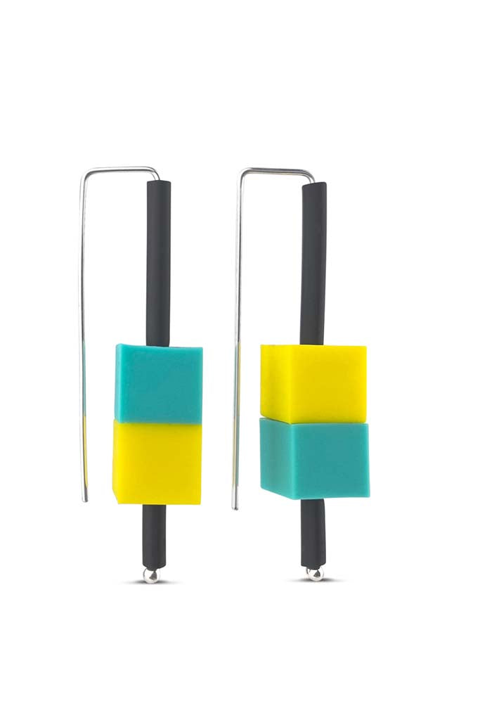building block earrings