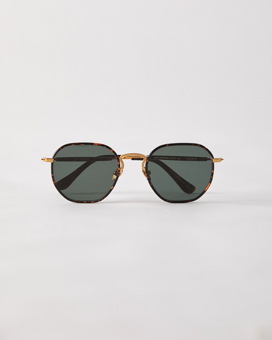 Denz - Tortoise Polished Windsor Wrap / Green