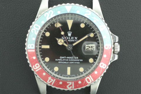 Rolex 1975 Oyster Perpetual Date GMT-Master Ref 1675 Chronometer Stainless Steel - SOLD
