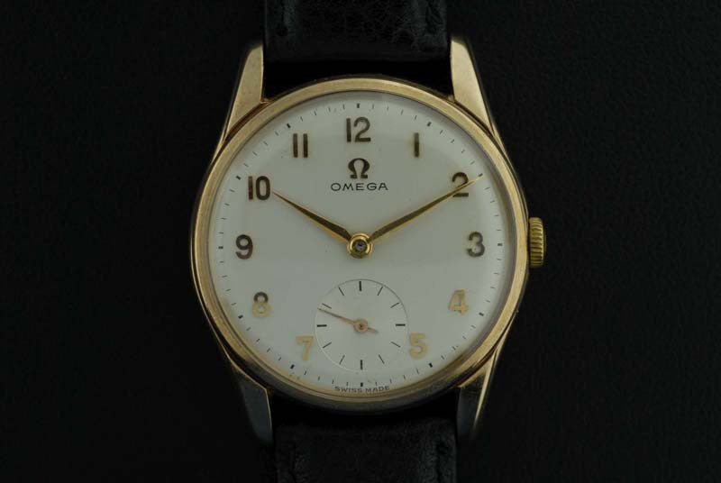 "Omega <i class=hide"">2</i>1959 9K Yellow Gold Wrist watch"" - SOLD"