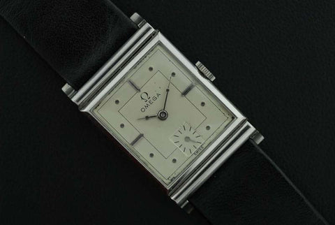 Omega 1926 stainless steel wrist watch - SOLD