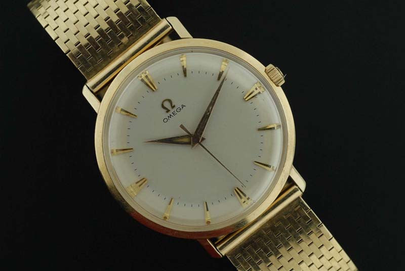 Omega 1958 14 Kt. gold wrist watch