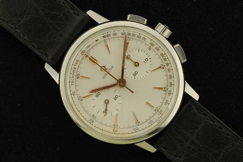 Omega 1965 stainless steel vintage chronograph