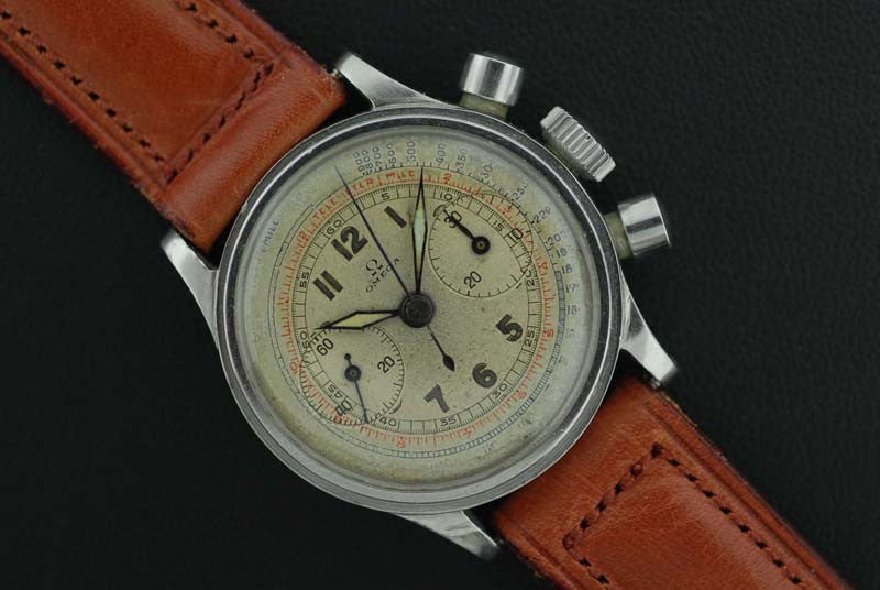 Omega 1926 Chronograph stainless steel wrist watch - SOLD