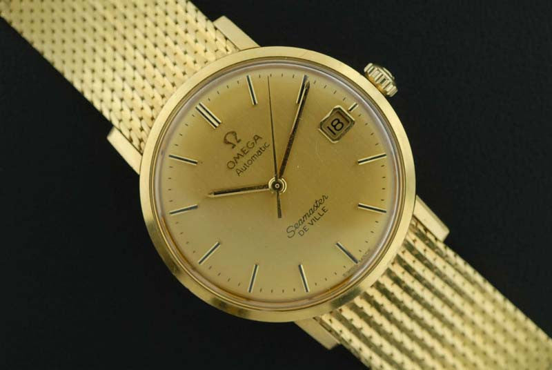 Omega Seamaster De Ville 18Kt. yellow gold wrist watch - SOLD