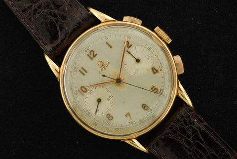 Omega 1944 18Kt yellow gold chronograph wrist watch