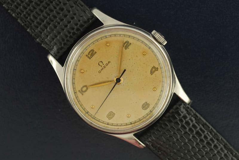 Omega vintage stainless steel watch