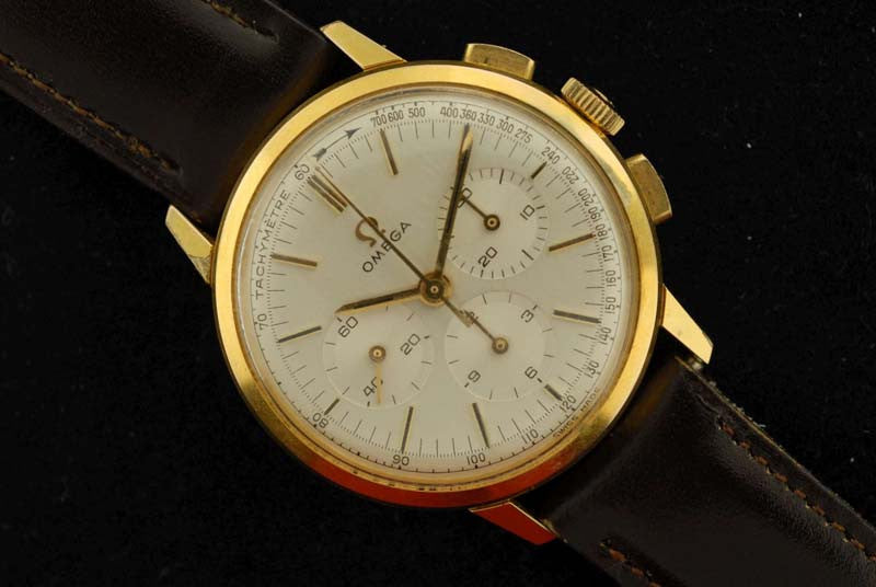 Omega gold filled with stainless steel back chronograph