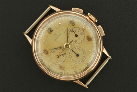 Omega 1944 14K Yellow Gold chronograph