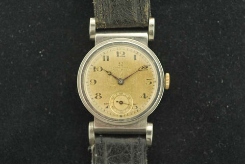 Omega 1923 Stainless steel watch in Leather Strap