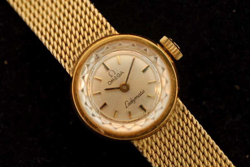 Omega stainless steel vintage watch with leather strap - SOLD