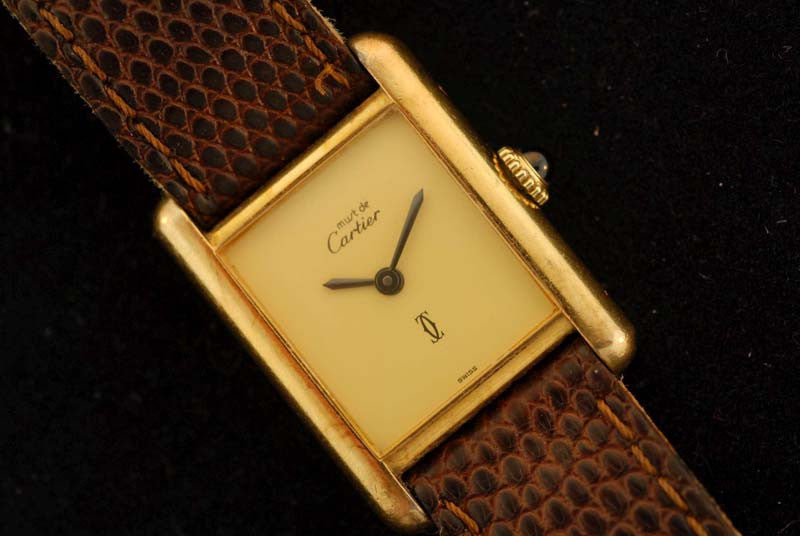 Cartier gold plated watch