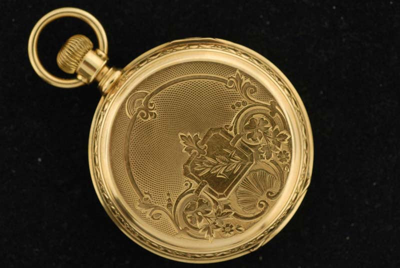 A.W. Co. 14 Kt Gold pocket watch