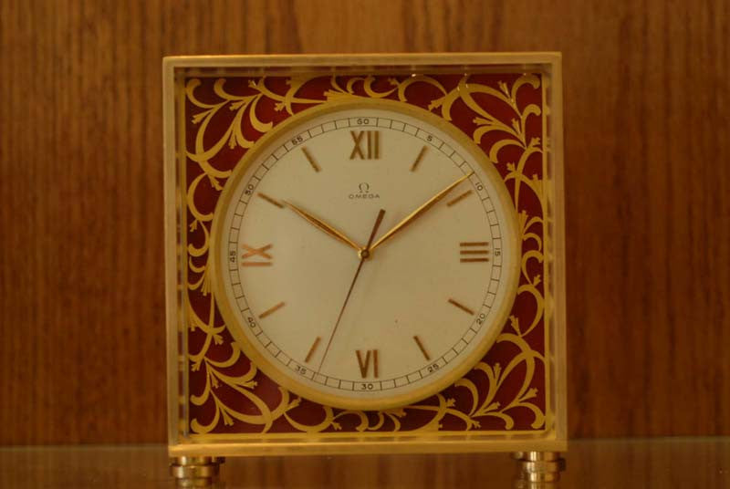 Omega 1926 8 days vintage table clock