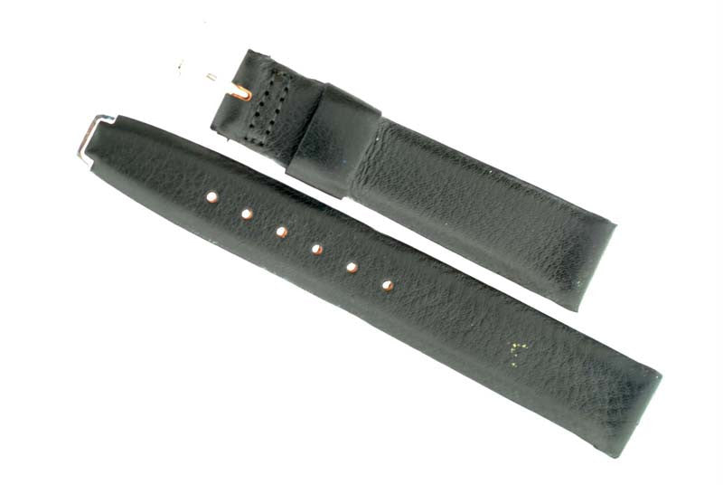 Omega black calfskin leather strap