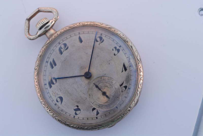 Omega 1906 Gold Plated Pocket Watch