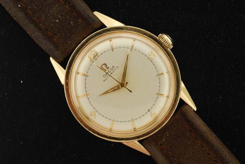 Omega 1952  14 KT Yellow Gold Automatic Ticker
