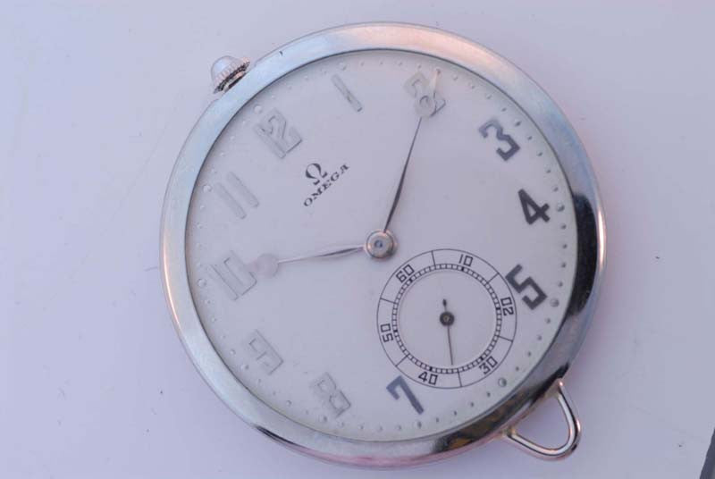 Omega 1923 18Kt. white gold pocket watch