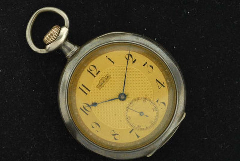 Omega 1900'sstainless steel pocket watch