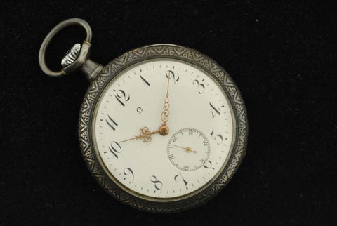 Omega 1900's stainless steel pocket ticker