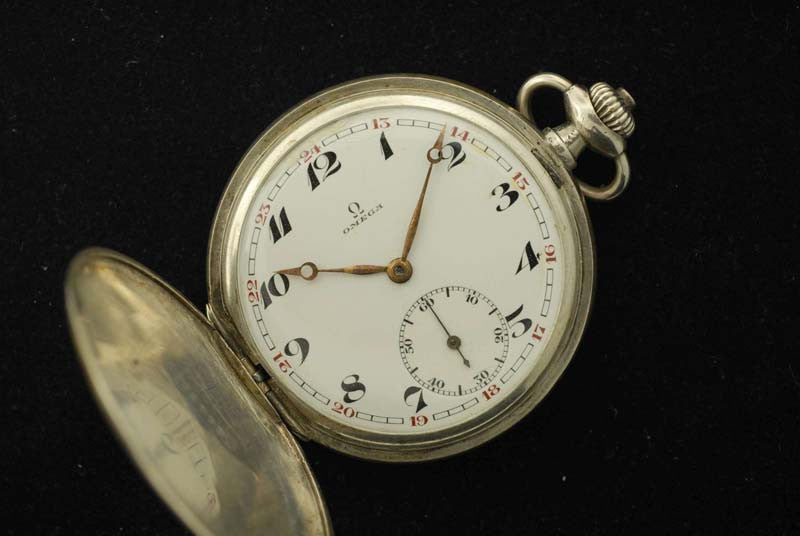 Omega 1923 Stainless Steel Pocket Watch