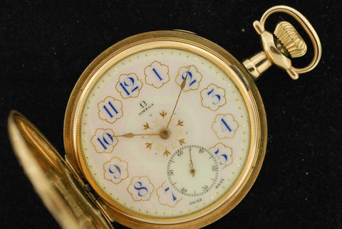 Omega 1906 Gold Plated Pocket Ticker