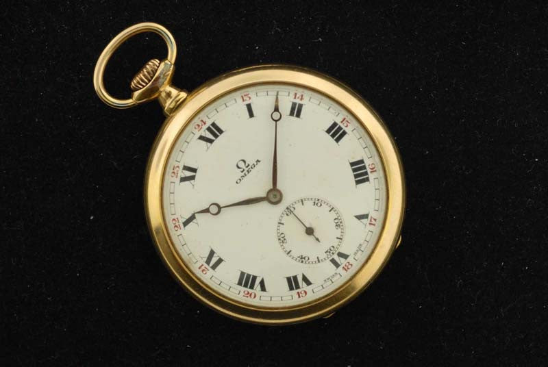 Omega 1923 Gold Plated Pocket Watch