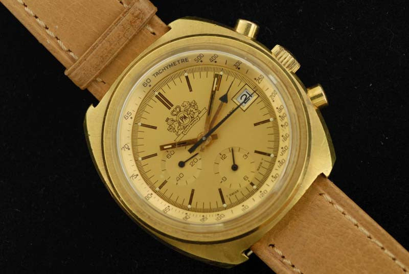 Omega 1973 Gold Plated with Stainless steel Chronograph