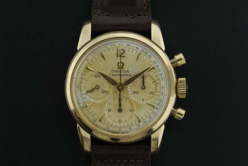 Omega 1961 Extremely rare 14 Kt Seamaster Chronograph - SOLD