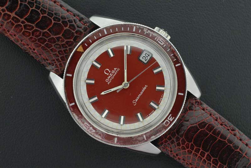 Omega 1969 Seamaster in Burgundy Dial - SOLD