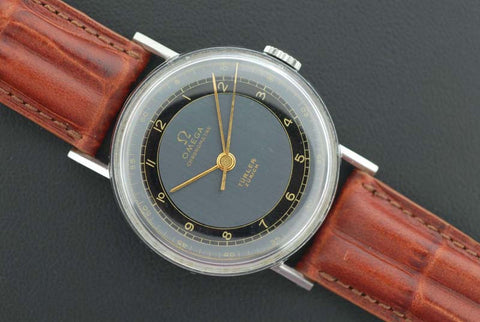 Omega Stainless Steel with Tw0-tone colored Dial - SOLD