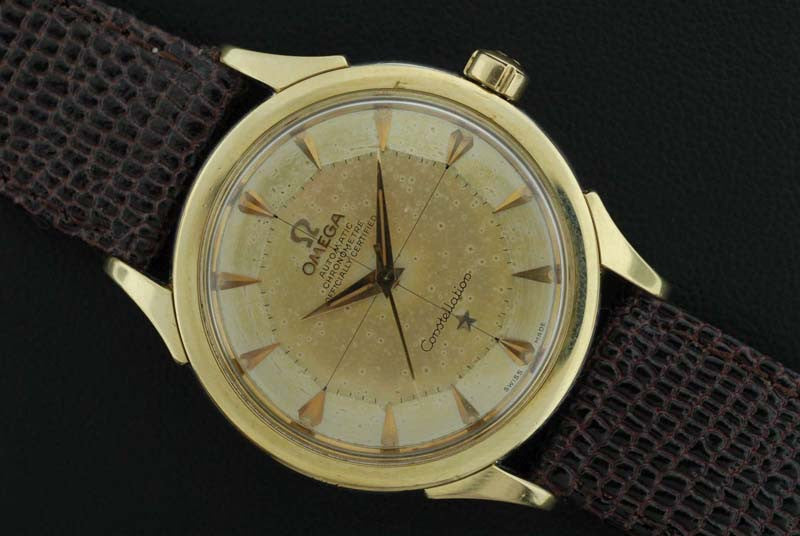 Omega 1956 Constellation with gold raised marker