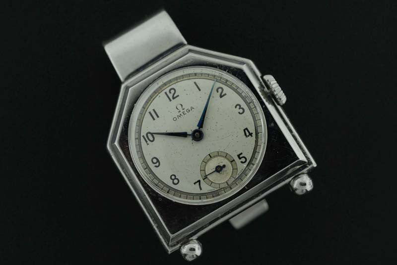 Omega 1934 stainless steel jewelled timepiece