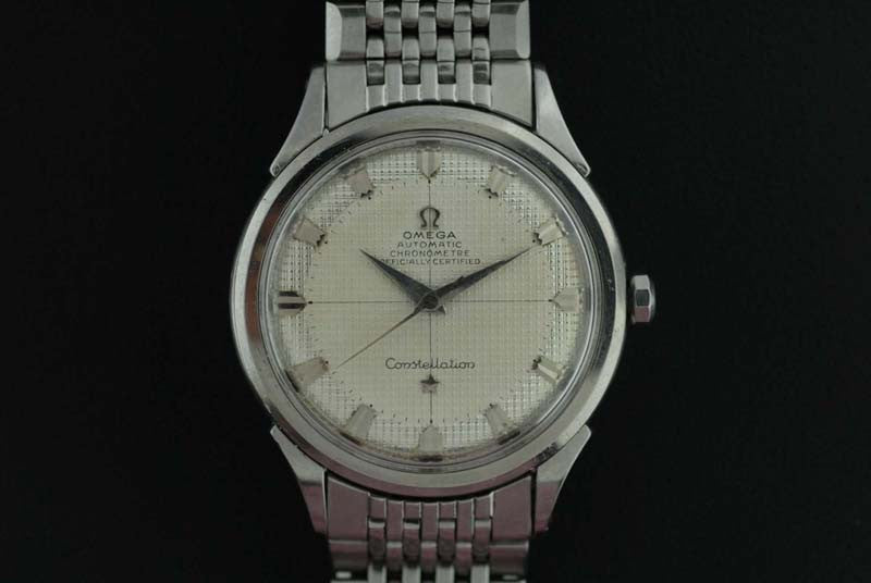 Omega 1954 stainless steel Constellation with honeycomb dial - SOLD
