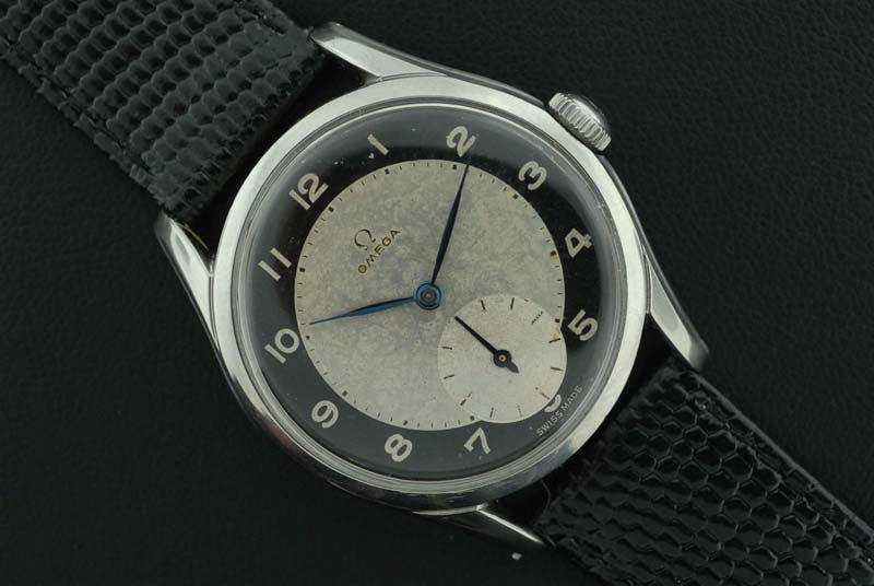 Omega 1952 classic watch with bull's eye dial