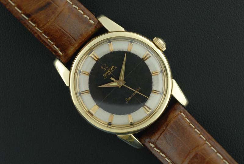 Omega 1958 Seamaster with rare two-tone dial - SOLD