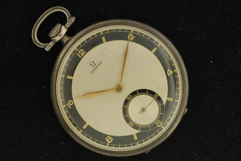 Omega 1934 Stainless Steel  Pocket Watch